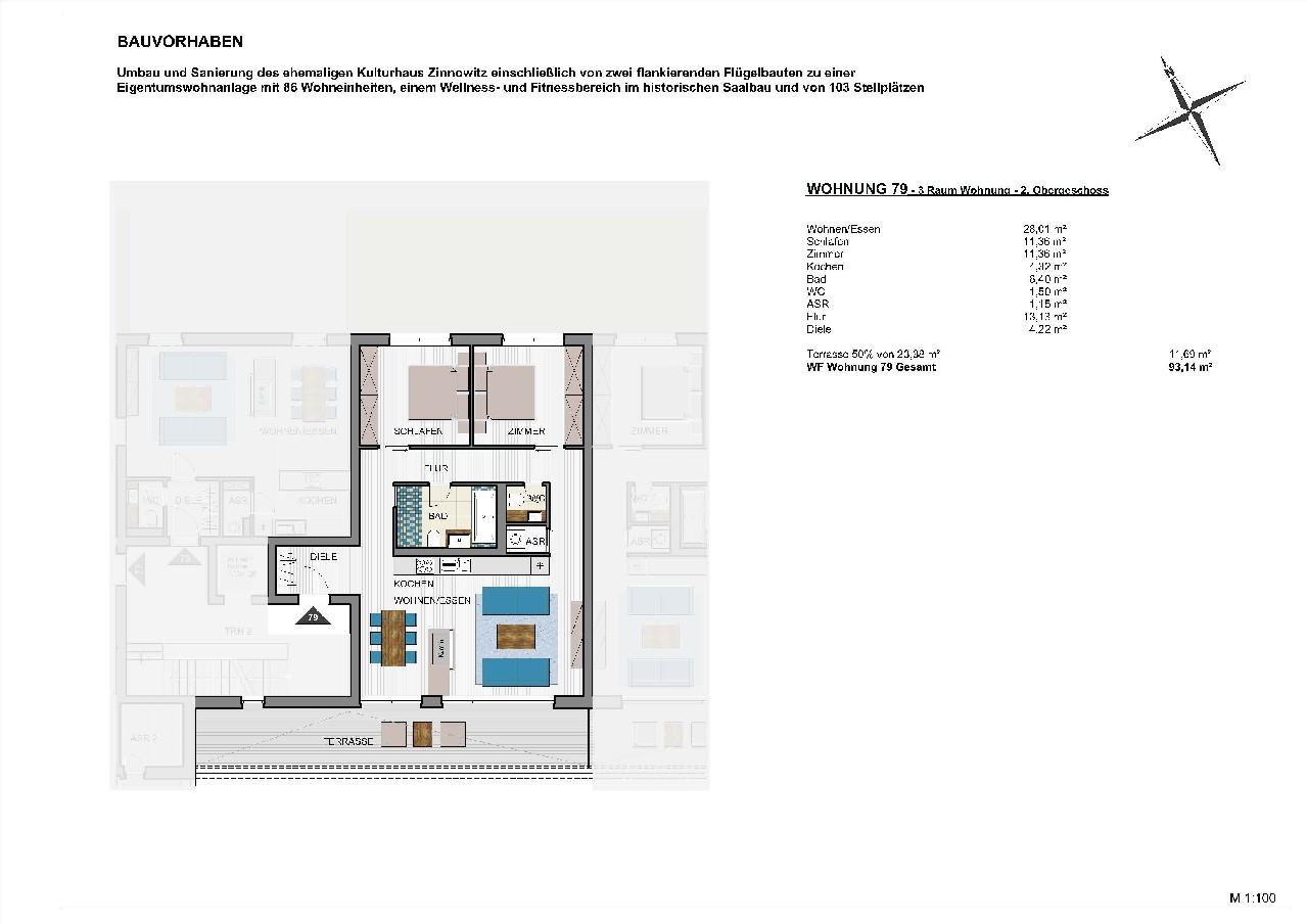 Grundriss schematisch Wohnung KHZ 3